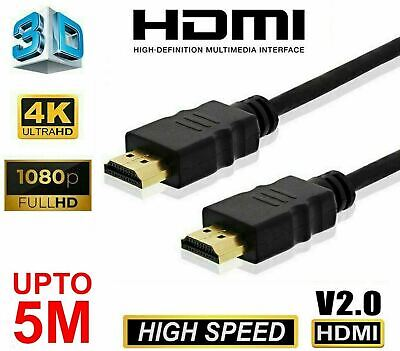 AU7.80 • Buy Premium HDMI Cable Ultra HD V2.0 4K 2160p 1080p 3D High Speed HEC Ethernet
