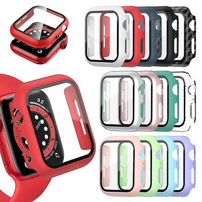 $ CDN5.97 • Buy For Apple Watch Case Screen Protector Series 3/4/5/6/SE Full Protective Cover