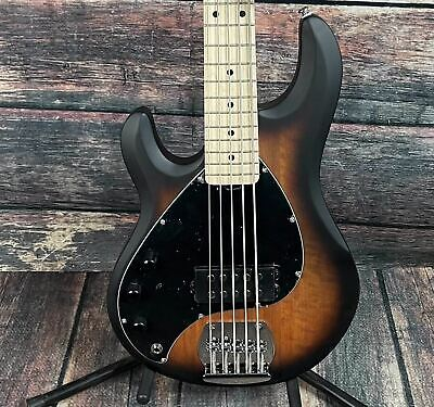 AU498.12 • Buy Sterling By Music Man Left Handed StingRay Ray 5 5 String Electric Bass- Satin S