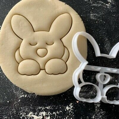 £3.85 • Buy Bunny Rabbit Sleeping Cookie Pastry Biscuit Cutter Icing Fondant Baking