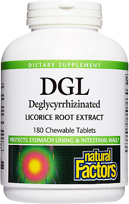 Natural Factors DGL Chewable Deglycyrrhizinated Licorice Root Extract, 180 Ct • 18.44£