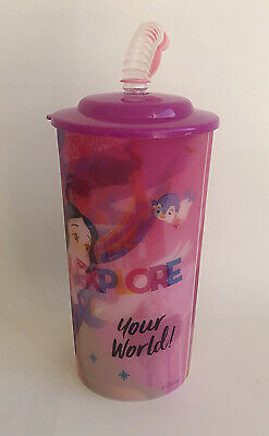£2.75 • Buy Disney Princess Drinking Cup & Straw Holographic Pink Design Age 3 Plus