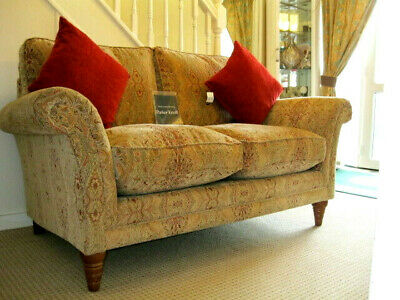 £1049 • Buy Parker Knoll Burghley 2 Seater Sofa In Baslow Stripe Gold Fabric.RRP£1890