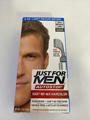 £7.19 • Buy JUST FOR MEN AutoStop Foolproof Haircolor, Light-Medium Brown A-30