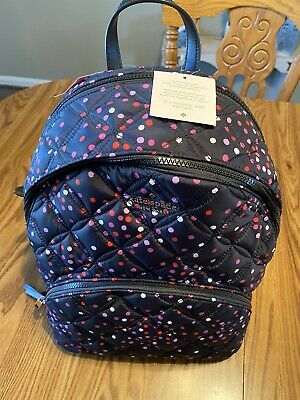 $ CDN139.67 • Buy Kate Spade ~ Karissa Large Backpack Nylon Quilted ~ Black With Multi Dot ~ NWT!