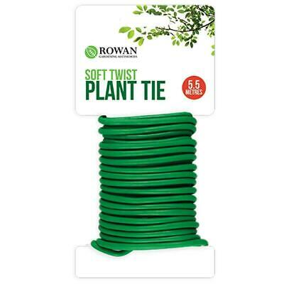 £2.49 • Buy New 5.5m Garden Soft Twist Plant Twine Tie Green Flexible Bendy Wire Cable