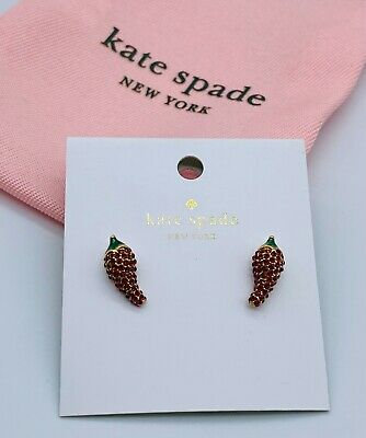 $ CDN21.76 • Buy Kate Spade Red Pepper Shape Fashion Earrings Free Shipping