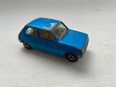 £3.99 • Buy Matchbox Superfast No 21 Renault 5TL Blue, Silver Base _ Boot Missing!