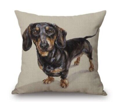 £6.99 • Buy Assorted Dachshund Sausage Dog Cushion Covers Linen Square 18  Quality Gift UK