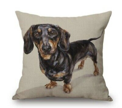 £6.99 • Buy Furever Gifts Dachshund Sausage Dog Cushion Covers Linen Mix 18  X 18  1 Piece