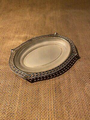 £10 • Buy VINTAGE English Silver Plated Olive Or Butter Dish With Original Glass Liner