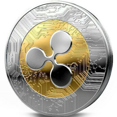 AU2.95 • Buy Silver & Gold Ripple Coin Commemorative Round Collectors Coin XRP Coin With Case