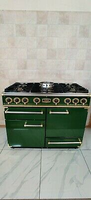 £1190 • Buy All Gas Falcon 110cm Range Cooker In Green And Brass.  13 Amp.  Ref--a68