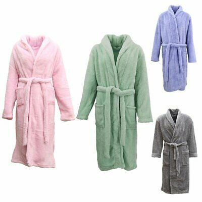 AU39.95 • Buy New Women's Men's Supersoft Luxurious Coral Fleece Bath Robe Dressing Gown Warm