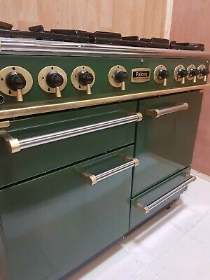 £1230 • Buy ALL GAS FALCON 110CM RANGE COOKER IN GREEN AND BRASS.. 13 Amp.  REF--A122