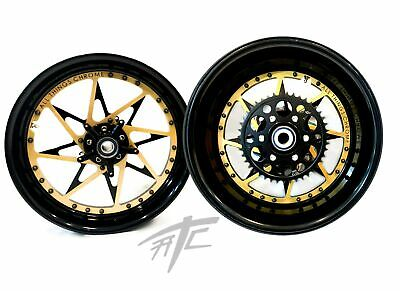 $3999.99 • Buy Gxsr 360 Fat Tire Black/gold Sparkle Switchback Wheels 01-08 Gsxr 1000