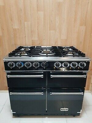 £1690 • Buy Falcon 100cm De Luxe Dual Fuel Range Cooker In Black And Chrome. Ref--a125