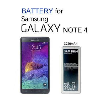 AU12.85 • Buy Genuine OEM Li-ion Replacement Battery 4 Samsung Galaxy NOTE 4 3220mAh Capacity