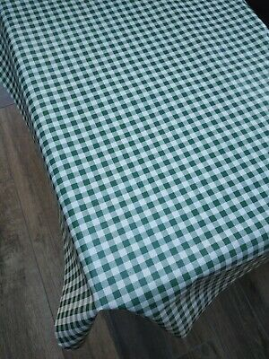 £10.49 • Buy Small Green Gingham Check PVC Vinyl Wipe Clean Oilcloth Tablecloth