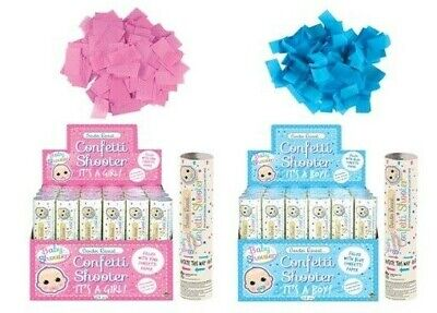 £6.43 • Buy New Baby Shower Gender Reveal Confetti Shooter Cannon Pink Blue Popper Party