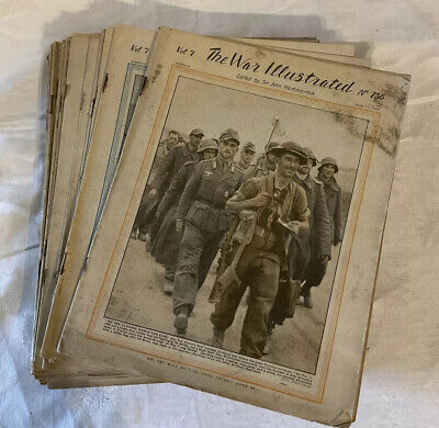 £35 • Buy The War Illustrated Ww2 1943 Magazine 25 Issues Old Military History Vol 7 1944