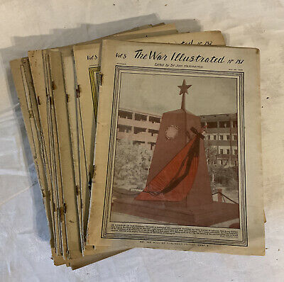 £35 • Buy The War Illustrated Ww2 1944 Magazine 28 Issues Old Military History Vol 8 1945