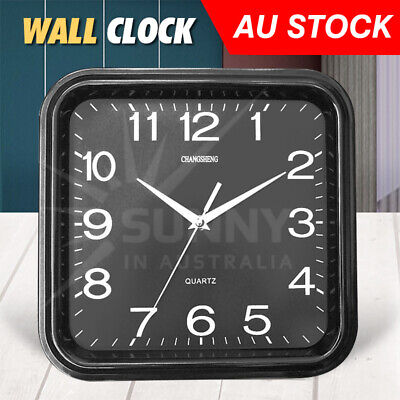 AU14.86 • Buy Wall Clock Square Quartz Silent Non-Ticking Battery Operated 12 Inch Home Decor