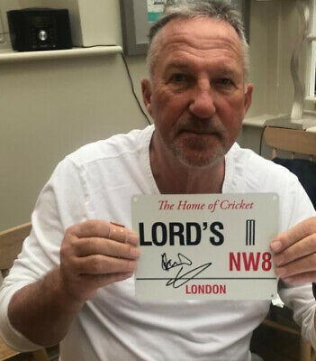 £50 • Buy Ian Botham Signed Lords Street Sign. Unusual Sought After Cricket Item £50