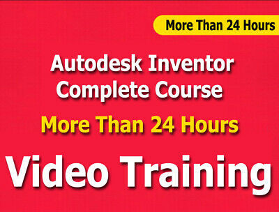 £6.51 • Buy Autodesk Inventor Complete Course Video Training Tutorials CBT 24+ Hours