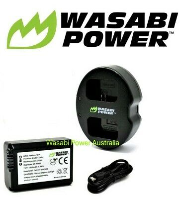 AU42.50 • Buy NP-FW50 Wasabi Battery X1 & Charger For SONY Alpha A5000,A5100,A6000,A6300,A6500