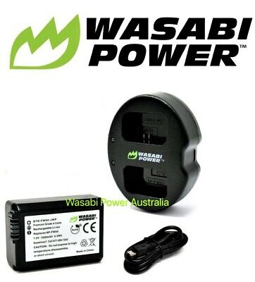 AU42.50 • Buy NP-FW50 Wasabi Battery X 1 And Charger For SONY Alpha A7,A7II,NEX-3,NEX-3N,NEX-5