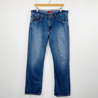 AU34.95 • Buy Levi's Mens Bootcut 503 Jeans Mid Blue Wash Faded Distressed Size W36 L32