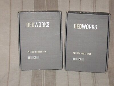 AU32.71 • Buy (2) Bedworks Pillow Protector Jumbo Size 28 X 20 + Box Never Used