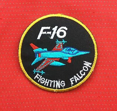 £2.99 • Buy Top Gun F-16 Fighting Falcon Us Navy Pilot Army Military Badge Iron Sew On Patch