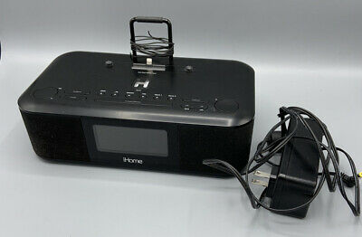 AU25.58 • Buy IHOME IDL95 DUAL ALARM CLOCK RADIO STEREO IPhone/iPod/iPad Dock Station