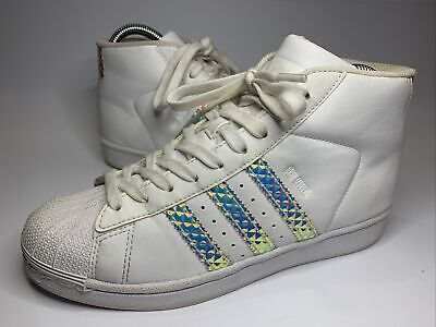 £25.99 • Buy ADIDAS PRO MODEL Shell Toe TRAINERS SIZE 4.5 UK WHITE RARE Collectible Vgc