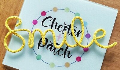 £12.50 • Buy 'Smile' Knitted Wire Word / Home Decor / Nursery Decor/ Wire Wall Art