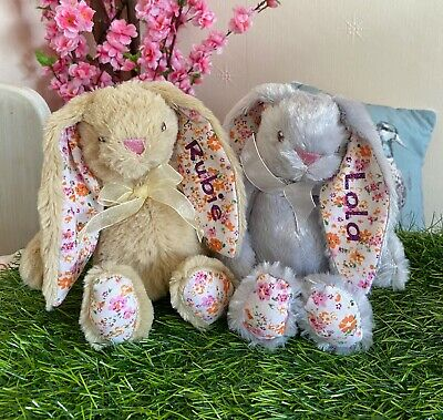 £6.50 • Buy Personalised Bunny Rabbit Cuddly Toy Plush Bear - Perfect Gift Girl New Baby