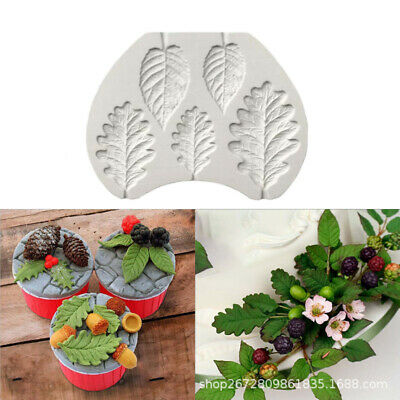 Leaf Cake Silicone Mould Plant Tree Flower Leave Fondant Baking Decor Mold DIY   • 2.49£