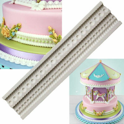 £3.25 • Buy Pearl Bead Silicone Fondant Mould Cake Chains Decorating Baking Icing Mold Sugar