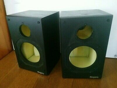 £37.50 • Buy Rogers LS2a/2 Speaker Cabinets Empty Enclosures For Parts Or Project