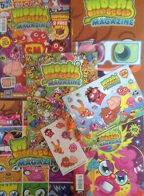£30 • Buy Moshi Monsters 5 X Clean Magazines, 3 X Figures, Plus Stickers