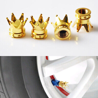 AU4.67 • Buy Gold Crown Wheel Rims Caps Car Motorcycle Tire Air Valve Stem Cover Accessories