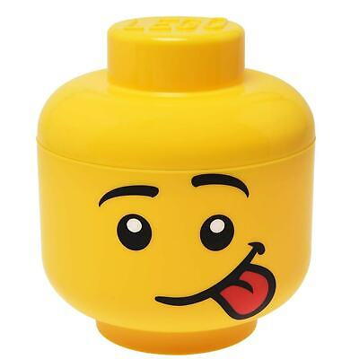 £13.99 • Buy  Lego Storage Head Small Silly Boy Face Tongue Out Lego Brick Holder