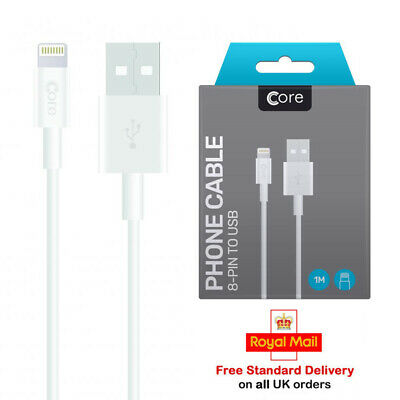 £1.96 • Buy 100% Genuine Core IPhone USB Data Charger Charging Cable Lead For IPhone IPad