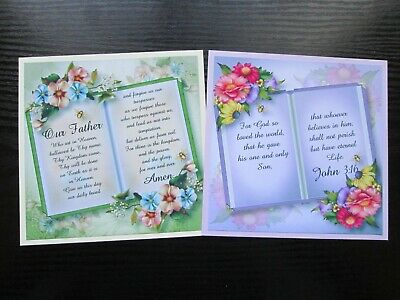 £1.25 • Buy NEW === 2 X RELIGIOUS / SCRIPTURE ---- Open Book  Card Making Toppers