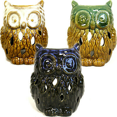 Owl - Classic Ceramic Rustic Oil Burner - 3 Shades Choose Gift Home Decoration • 8.99£