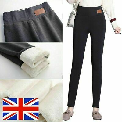 £4.99 • Buy Women's Winter Thick Warm Soft Fleece Lined Thermal Stretchy Leggings Pants 8-20