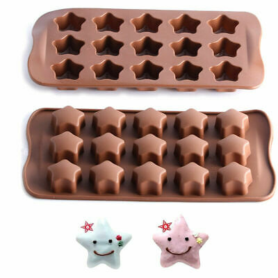 £2.59 • Buy Star Chocolate Silicone Mould Candy Cake Wax Melt Resin Ice Baking Mold Craft 3D