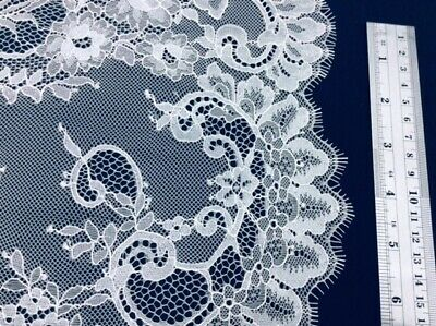 £19 • Buy CHAMPAGNE TONE CHANTILLY LACE FABRIC-1m PIECE-WAS £40  LD621